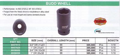 AMERICAN TOOL : BUDD WHELL FOR TRUCK 20 X 38