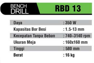 RYU : BENCH DRILL RBD 13
