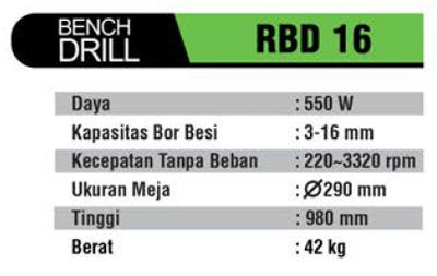 RYU : BENCH DRILL RBD 16